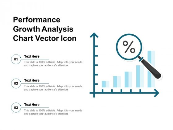 Performance Growth Analysis Chart Vector Icon Ppt PowerPoint Presentation Styles Mockup PDF