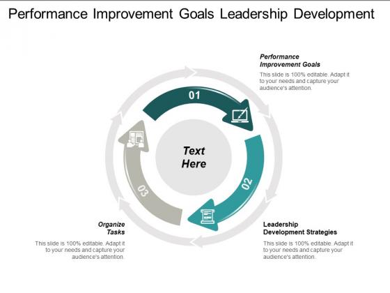 Performance Improvement Goals Leadership Development Strategies Organize Tasks Ppt PowerPoint Presentation Professional Model Cpb