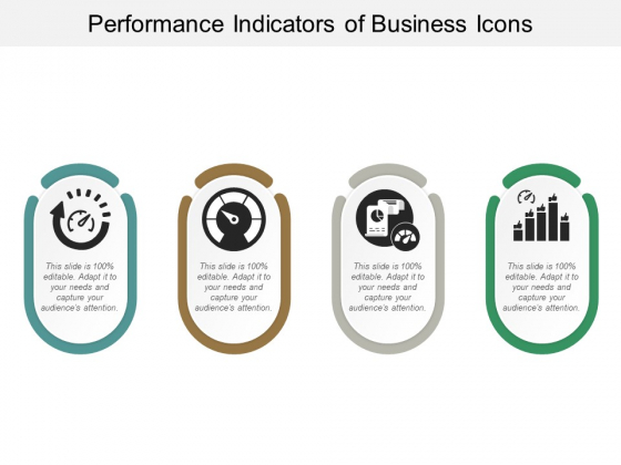 Performance Indicators Of Business Icons Ppt Powerpoint Presentation Infographics Graphics Template