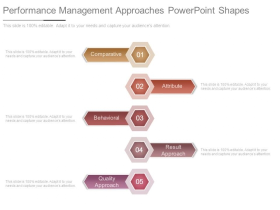 Performance Management Approaches Powerpoint Shapes
