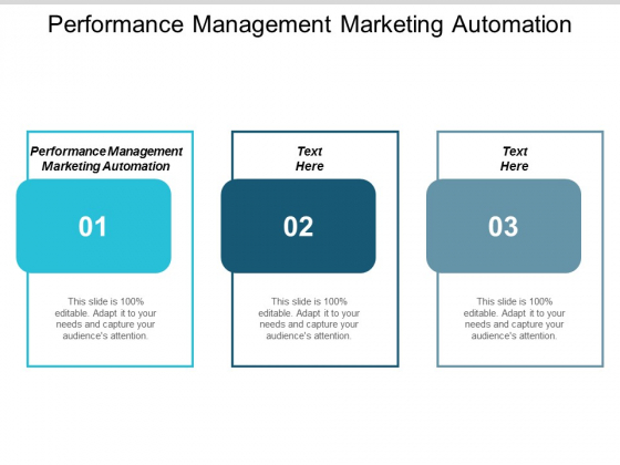Performance Management Marketing Automation Ppt PowerPoint Presentation Show Cpb