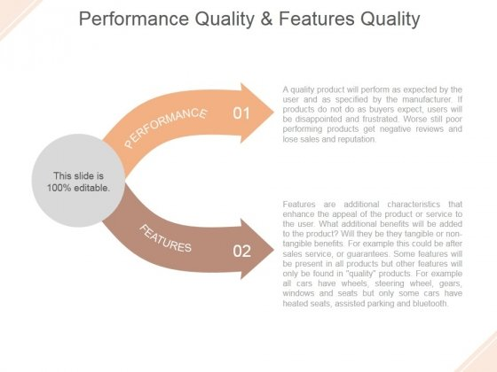 Performance Quality And Features Quality Ppt PowerPoint Presentation Example 2015