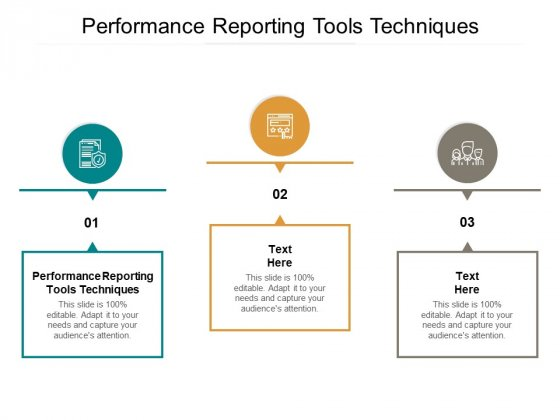 Performance Reporting Tools Techniques Ppt PowerPoint Presentation Gallery Smartart Cpb