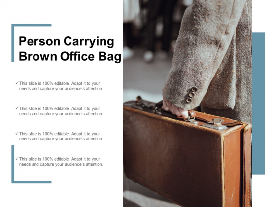 Person Carrying Brown Office Bag Ppt Powerpoint Presentation Infographics Graphics Tutorials