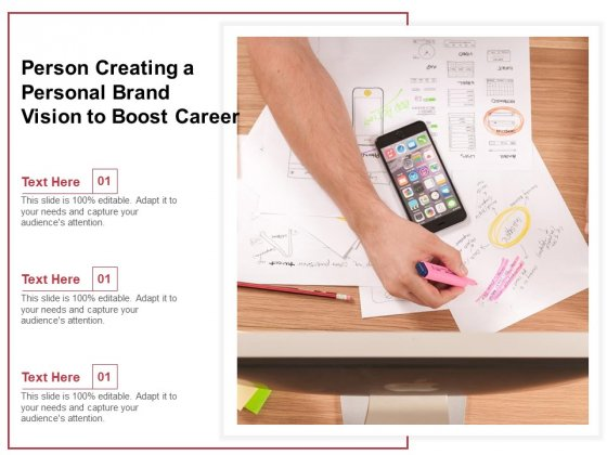 Person Creating A Personal Brand Vision To Boost Career Ppt PowerPoint Presentation Professional Maker PDF