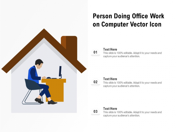 Person Doing Office Work On Computer Vector Icon Ppt PowerPoint Presentation Gallery Graphics PDF