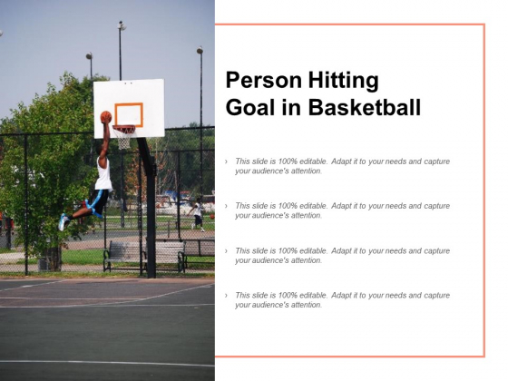 Person Hitting Goal In Basketball Ppt PowerPoint Presentation Show Format Ideas