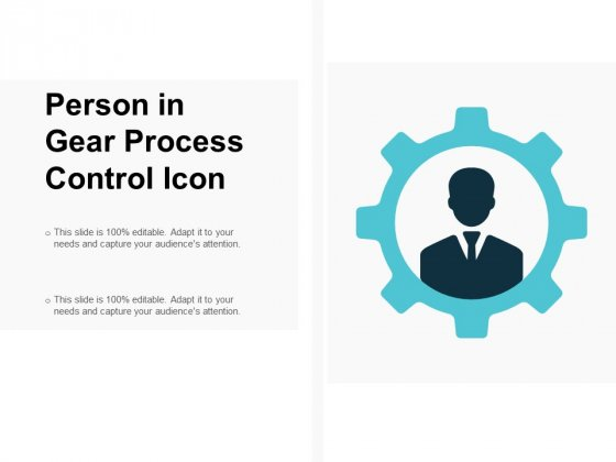 Person In Gear Process Control Icon Ppt PowerPoint Presentation Gallery Professional