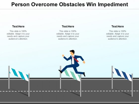 Person Overcome Obstacles Win Impediment Ppt PowerPoint Presentation Infographic Template Layout