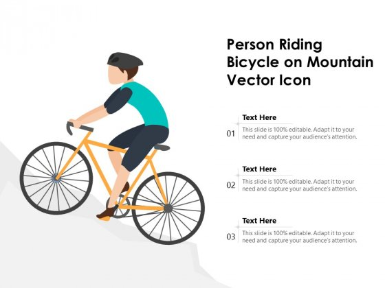 Person Riding Bicycle On Mountain Vector Icon Ppt PowerPoint Presentation Outline Visual Aids PDF