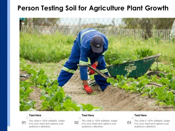 Person Testing Soil For Agriculture Plant Growth Ppt PowerPoint Presentation Gallery Aids PDF