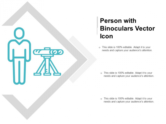 Person With Binoculars Vector Icon Ppt PowerPoint Presentation Layouts Slide Portrait