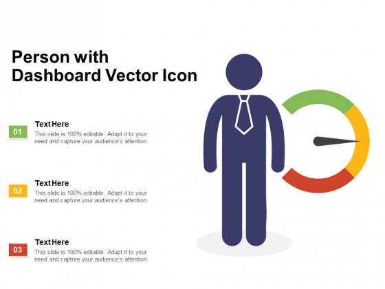 Person With Dashboard Vector Icon Ppt PowerPoint Presentation Infographics Slide PDF