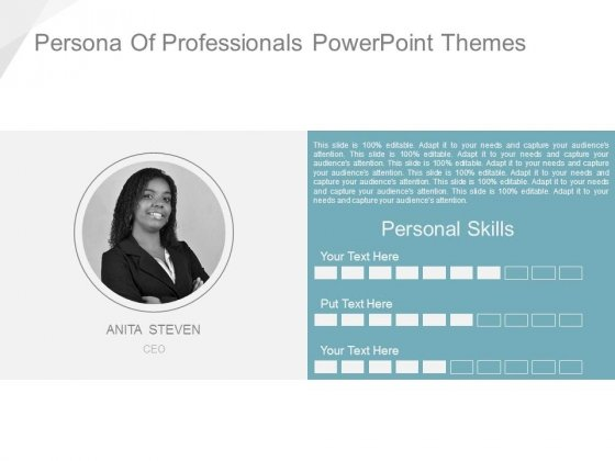 Persona Of Professionals Powerpoint Themes