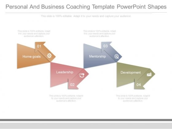 Personal And Business Coaching Template Powerpoint Shapes