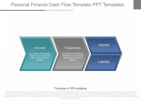 Personal Finance Cash Flow Template Ppt Templates