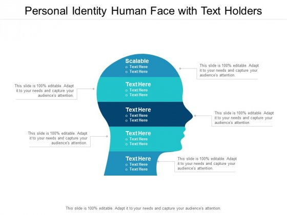 personal identity human face with text holders ppt powerpoint presentation icon example