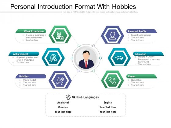 Personal Introduction Format With Hobbies Ppt PowerPoint Presentation File Templates PDF