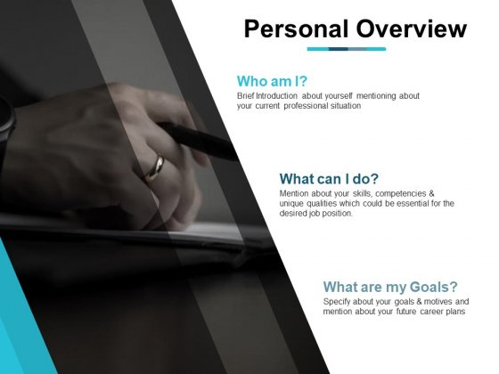 Personal Overview Business Ppt PowerPoint Presentation Icon Deck