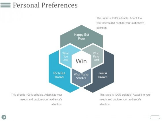 Personal Preferences Template 2 Ppt PowerPoint Presentation Infographics Vector