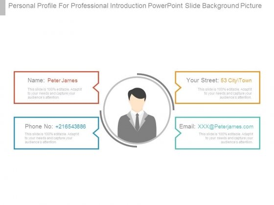 Personal Profile For Professional Introduction Powerpoint Slide Background Picture