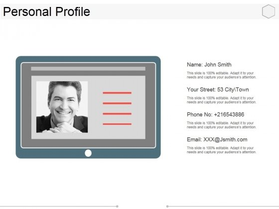 Personal Profile Ppt PowerPoint Presentation Model Designs