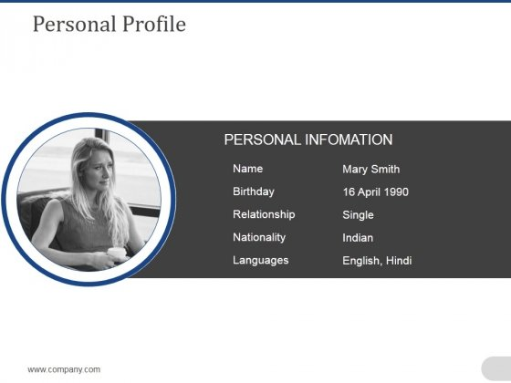 Personal Profile Ppt PowerPoint Presentation Outline Example