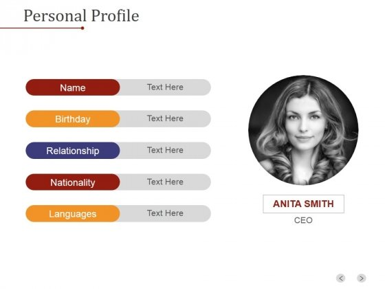 Personal Profile Ppt PowerPoint Presentation Picture