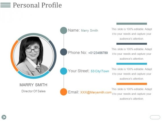 Personal Profile Ppt PowerPoint Presentation Professional Images