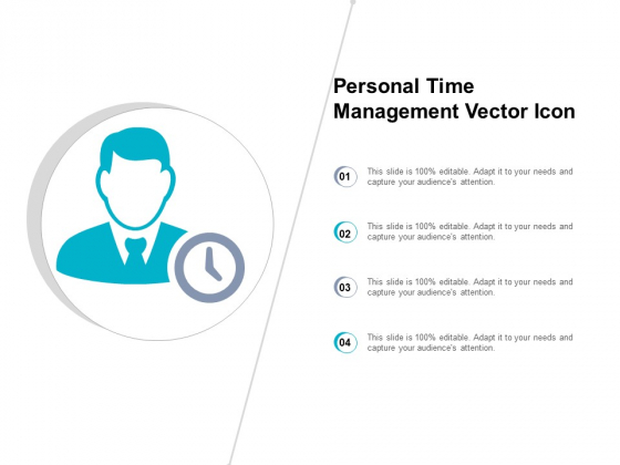 Personal Time Management Vector Icon Ppt PowerPoint Presentation Gallery Inspiration