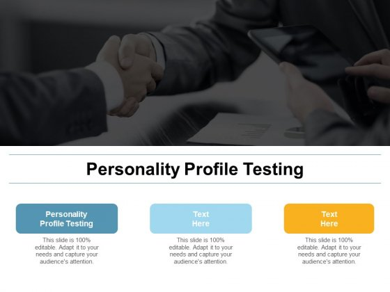 Personality Profile Testing Ppt PowerPoint Presentation Styles Infographics Cpb
