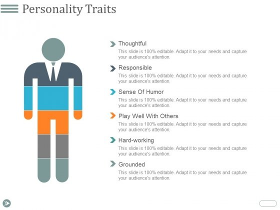 Personality Traits Ppt PowerPoint Presentation Professional Diagrams