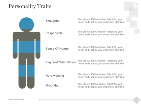 Personality Traits Ppt PowerPoint Presentation Themes
