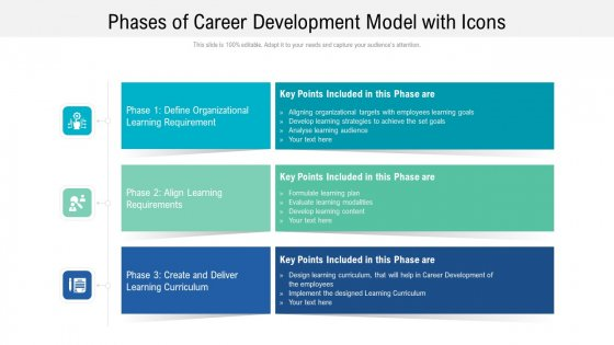 Phases Of Career Development Model With Icons Ppt Powerpoint Presentation File Background Images PDF