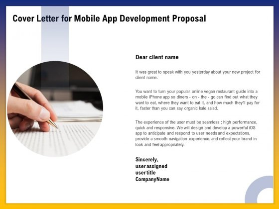Phone Application Buildout Cover Letter For Mobile App Development Proposal Ppt PowerPoint Presentation Styles Example File PDF