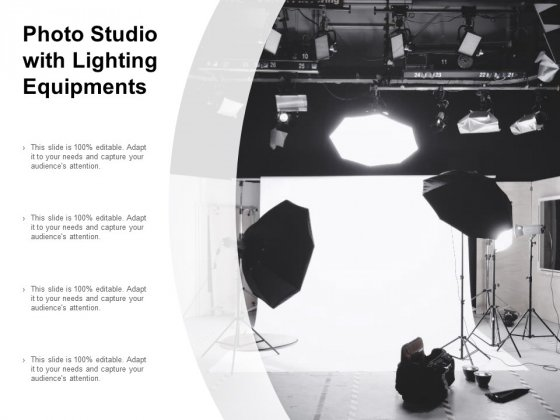Photo Studio With Lighting Equipments Ppt Powerpoint Presentation Slides Background