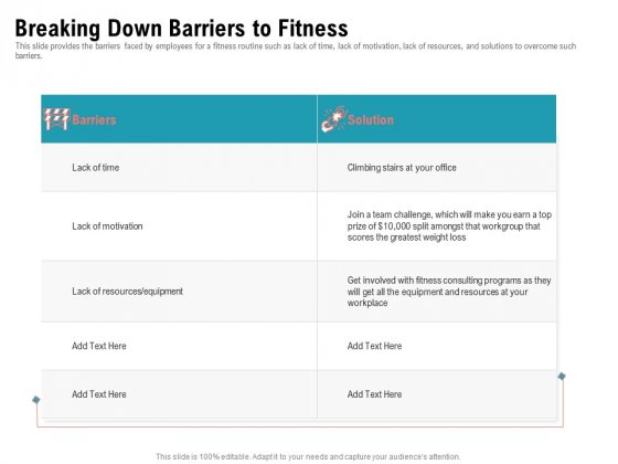 Physical Trainer Breaking Down Barriers To Fitness Topics PDF
