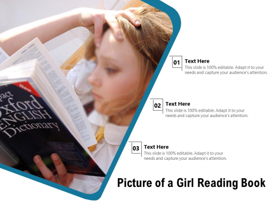 Picture Of A Girl Reading Book Ppt PowerPoint Presentation Layouts Template PDF