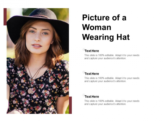 Picture Of A Woman Wearing Hat Ppt Powerpoint Presentation Summary Background