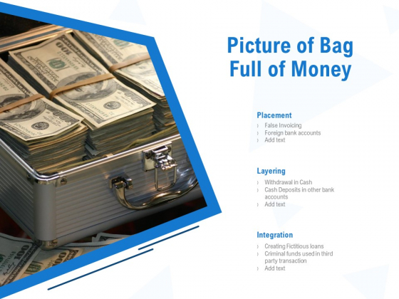Picture Of Bag Full Of Money Ppt PowerPoint Presentation Infographics Pictures