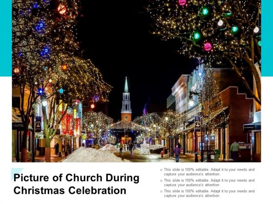 Picture Of Church During Christmas Celebration Ppt PowerPoint Presentation Inspiration Portrait
