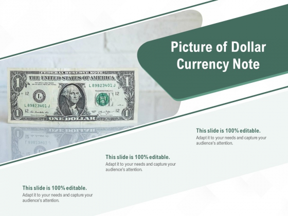 Picture Of Dollar Currency Note Ppt PowerPoint Presentation Ideas Format