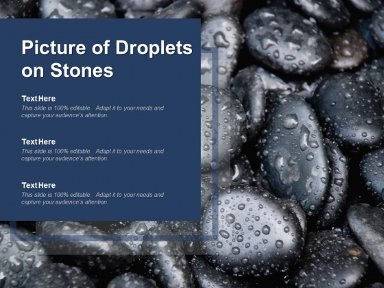 Picture Of Droplets On Stones Ppt PowerPoint Presentation Model Graphics Template