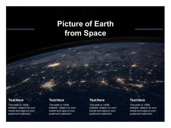 Picture Of Earth From Space Ppt PowerPoint Presentation Styles Design Templates