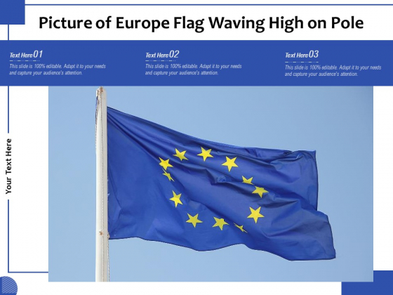 Picture_Of_Europe_Flag_Waving_High_On_Pole_Ppt_PowerPoint_Presentation_Pictures_Summary_PDF_Slide_1