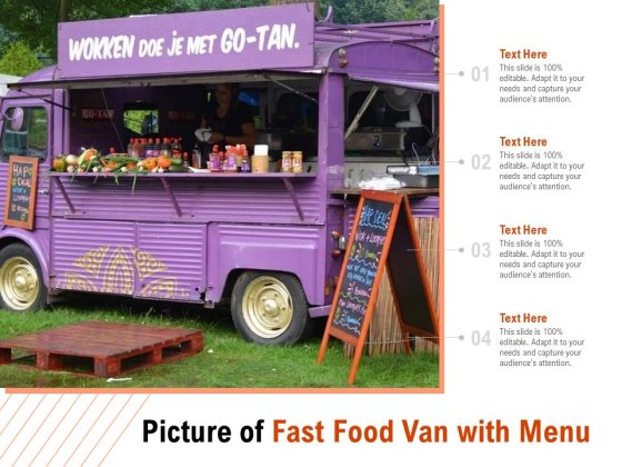 Picture Of Fast Food Van With Menu Ppt PowerPoint Presentation Infographic Template Themes