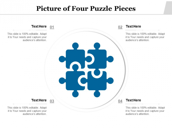 Picture Of Four Puzzle Pieces Ppt PowerPoint Presentation Gallery Objects PDF
