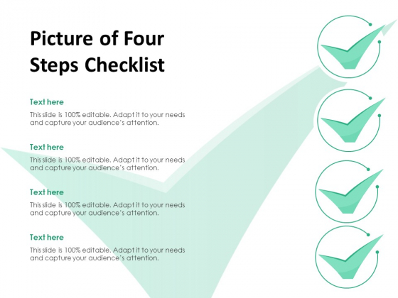 Picture Of Four Steps Checklist Ppt PowerPoint Presentation Icon Slides