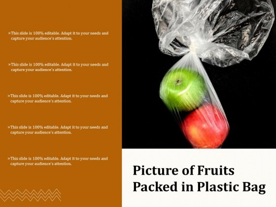 Picture Of Fruits Packed In Plastic Bag Ppt PowerPoint Presentation Layouts Graphic Images PDF