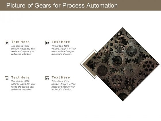 Picture Of Gears For Process Automation Ppt PowerPoint Presentation Pictures Example File